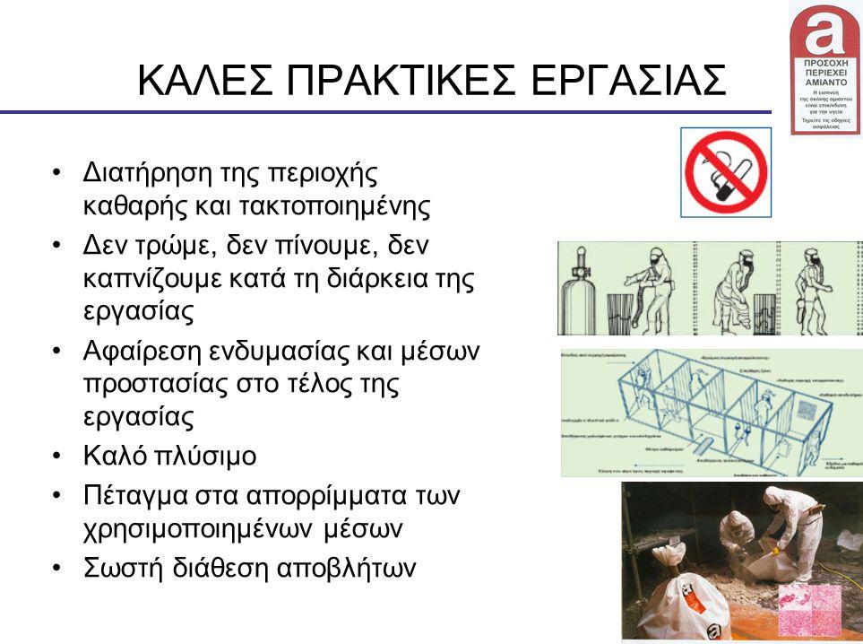 28 ΚΑΛΕΣ ΠΡΑΚΤΙΚΕΣ ΕΡΓΑΣΙΑΣ Διατήρηση της περιοχής καθαρής και τακτοποιημένης Δεν τρώμε, δεν πίνουμε, δεν καπνίζουμε κατά τη διάρκεια της εργασίας Αφα