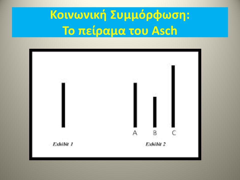 Κοινωνική Συμμόρφωση: Το πείραμα του Asch