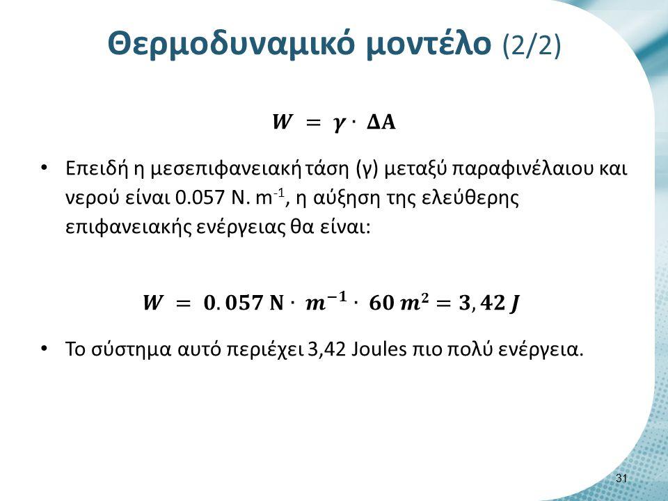 Θερμοδυναμικό μοντέλο (2/2) 31