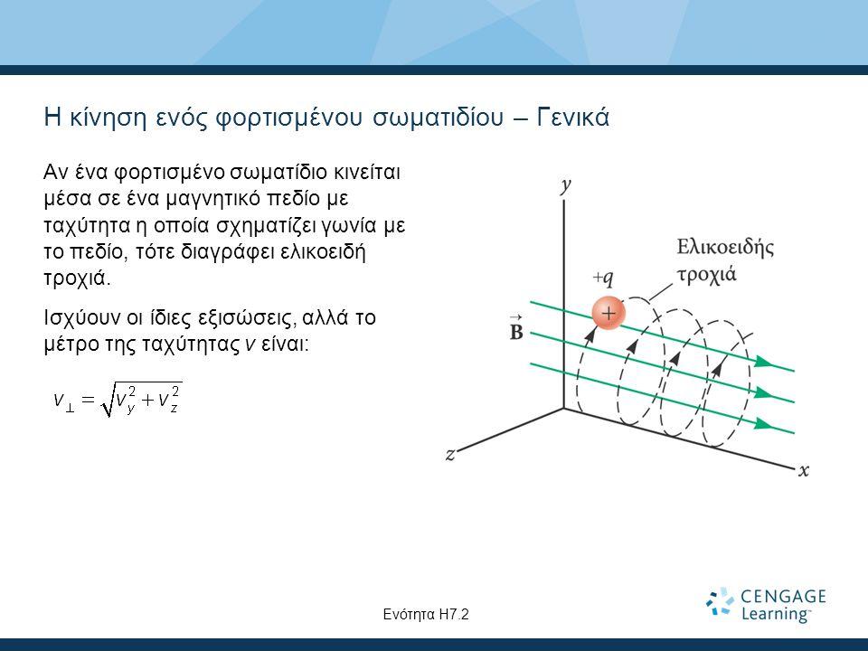 Η κίνηση ενός φορτισμένου σωματιδίου – Γενικά Αν ένα φορτισμένο σωματίδιο κινείται μέσα σε ένα μαγνητικό πεδίο με ταχύτητα η οποία σχηματίζει γωνία με
