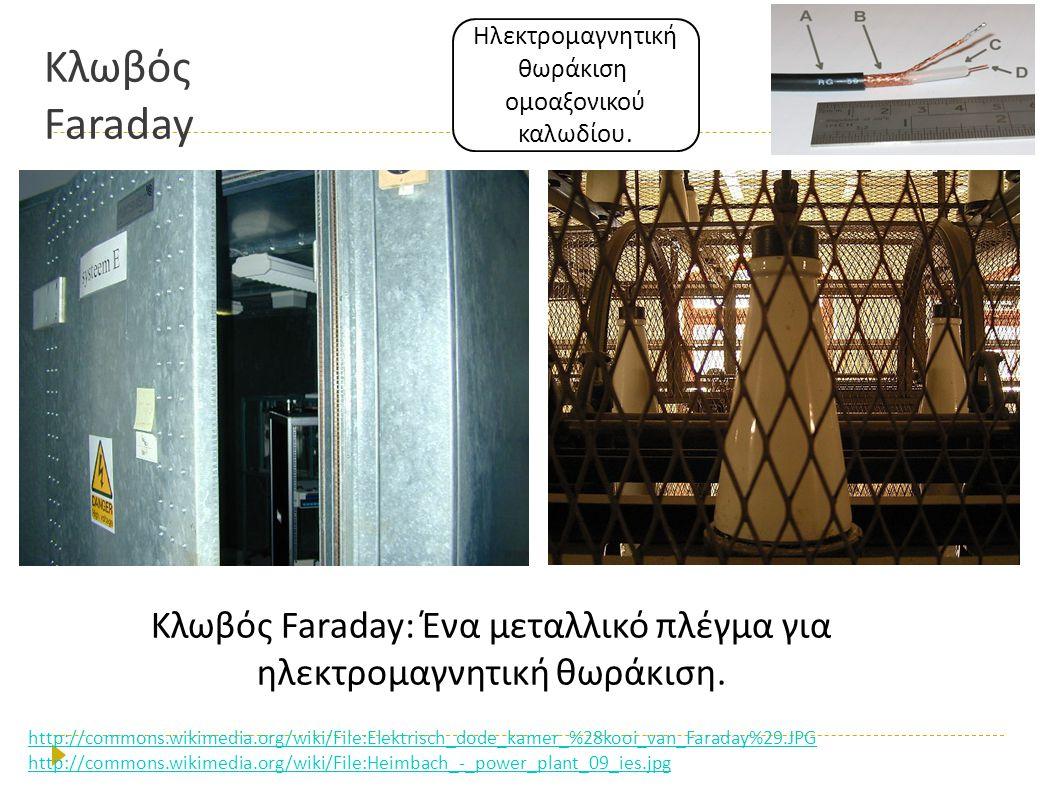Κλωβός Faraday Κλωβός Faraday: Ένα μεταλλικό πλέγμα για ηλεκτρομαγνητική θωράκιση. http://commons.wikimedia.org/wiki/File:Elektrisch_dode_kamer_%28koo