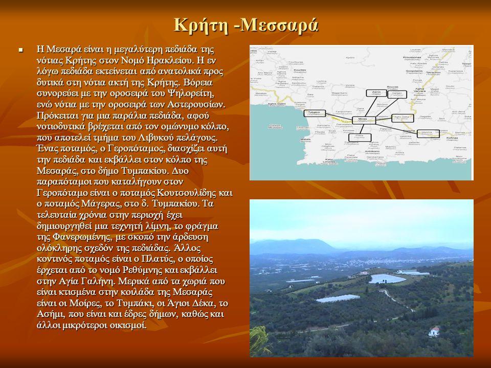Η Μεσαρά είναι η μεγαλύτερη πεδιάδα της νότιας Κρήτης στον Νομό Ηρακλείου. Η εν λόγω πεδιάδα εκτείνεται από ανατολικά προς δυτικά στη νότια ακτή της Κ