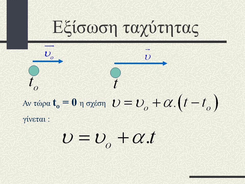 Εξίσωση ταχύτητας