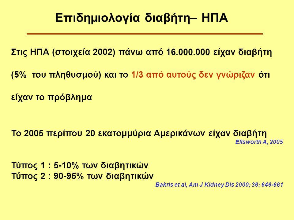 1.Η αγγειακή προσπέλαση πρέπει να γίνεται όταν ο GFR είναι περίπου 25 ml/min (ένα χρόνο νωρίτερα λόγω αρτηριοσκλήρυνσης) 2.Η αιμοκάθαρση πρέπει να αρχίζει νωρίτερα [όταν ο GFR=15 ml/min ή και ακόμη πιο νωρίς, όταν δεν ρυθμίζεται η ΑΠ και το ισοζύγιο των υγρών (GFR=20 ml/min)] Πιστεύεται ότι η πρώιμη έναρξη κάθαρσης βελτιώνει την κλινική πορεία των διαβητικών Θεραπεία υποκατάστασης νεφρικής λειτουργίας με Τεχνητό Νεφρό-Ι (διαβητική νεφροπάθεια)