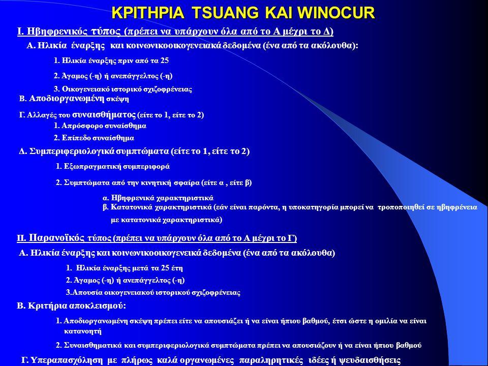 Τα ερευνητικά διαγνωστικά κριτήρια (RDC) Όλα τα κριτήρια 1,2 και 3 είναι απαραίτητα για τη διάγνωση: 3.