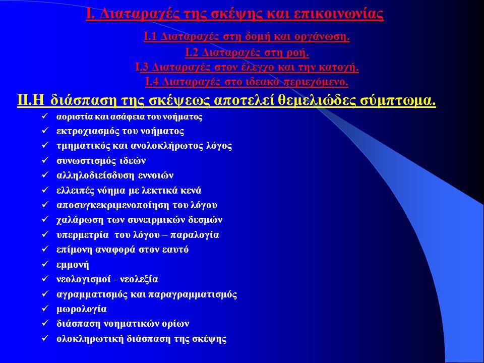 Τα κριτήρια του KURT SCHNEIDER 1.Συμπτώματα πρώτης τάξης α.