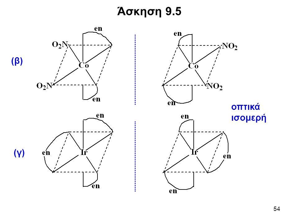 54 Άσκηση 9.5 οπτικά ισομερή (β) (γ)
