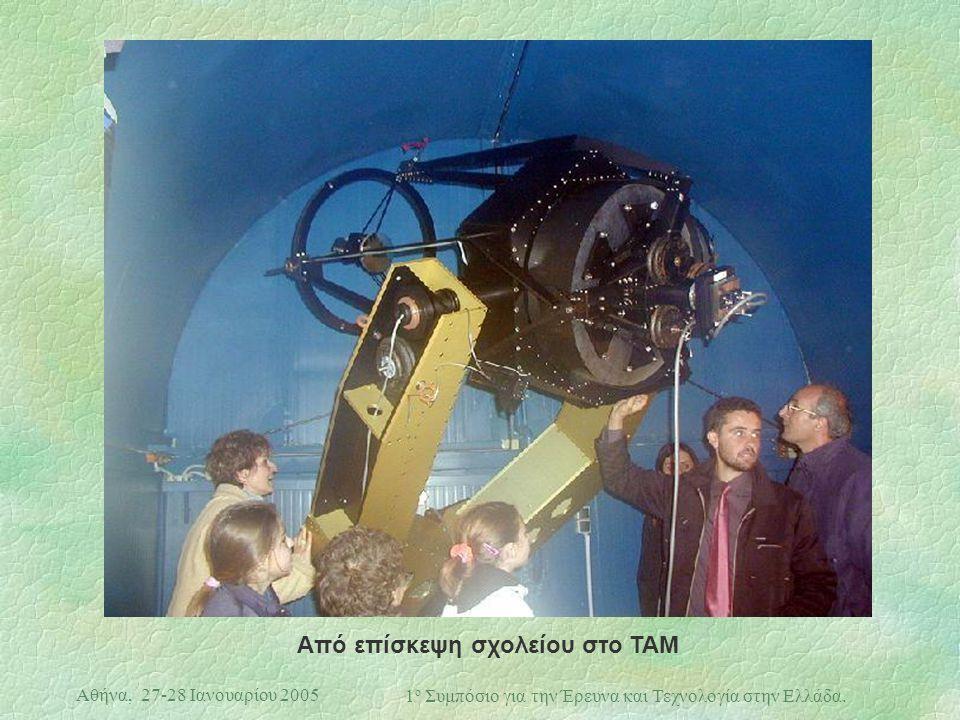 Αθήνα, 27-28 Ιανουαρίου 2005 1 ο Συμπόσιο για την Έρευνα και Τεχνολογία στην Ελλάδα. Από επίσκεψη σχολείου στο TAM