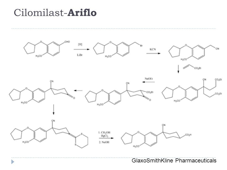 Cilomilast- Ariflo GlaxoSmithKline Pharmaceuticals