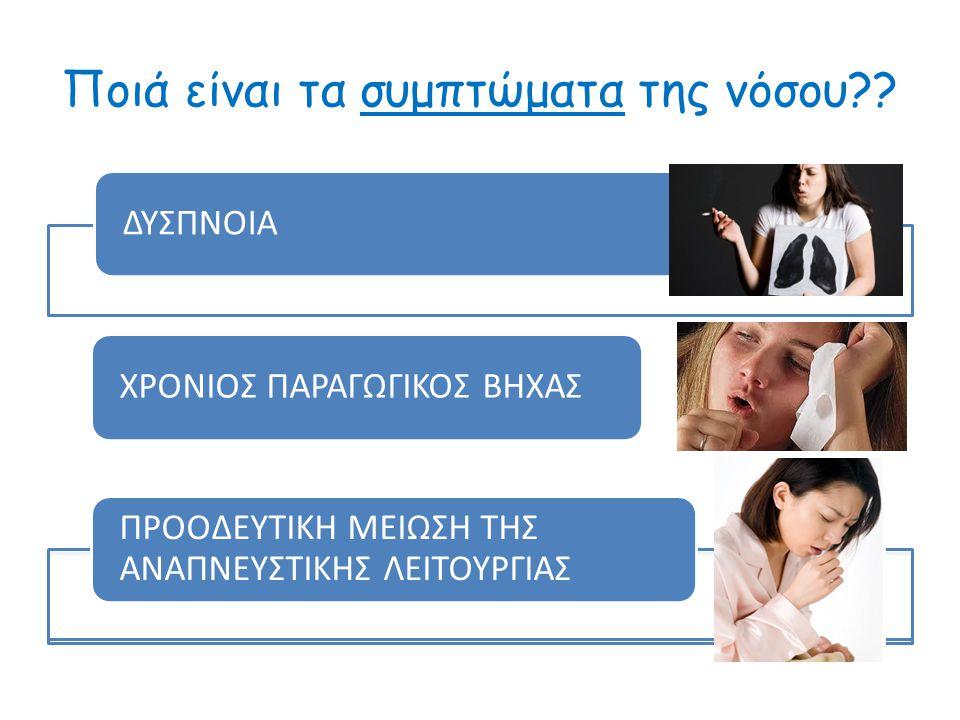 ΔΙΑΓΝΩΣΗ Κλινική Εξέταση. Ακτινολογικός έλεγχος. Σπιρομετρικός έλεγχος