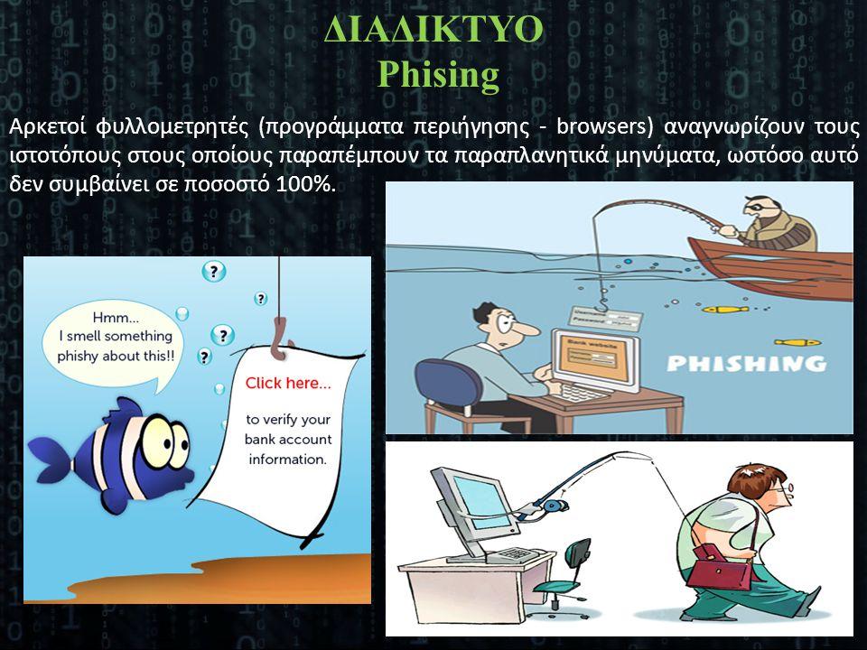 Αρκετοί φυλλομετρητές (προγράμματα περιήγησης - browsers) αναγνωρίζουν τους ιστοτόπους στους οποίους παραπέμπουν τα παραπλανητικά μηνύματα, ωστόσο αυτ