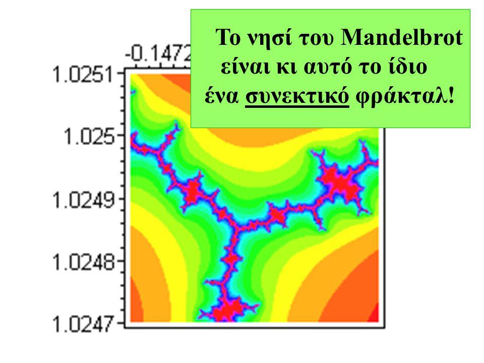 Το νησί του Mandelbrot είναι κι αυτό το ίδιο ένα συνεκτικό φράκταλ!