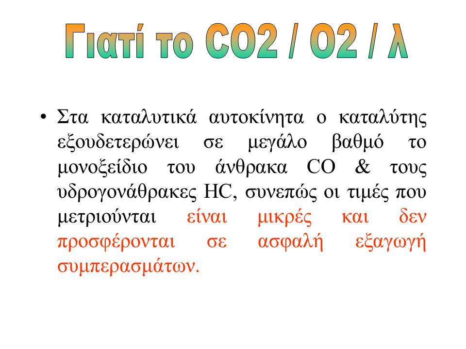 Με ποια σειρά θα γίνουν αυτοί οι έλεγχοι, και που θα δοθεί μεγαλύτερη έμφαση, θα εξαρτηθεί από τις τιμές του διοξειδίου του άνθρακα CO2 και του οξυγόνου O2, οι οποίες θα καθορίσουν αν φταίει η ποιότητα της καύσης, (ανάφλεξη, σύστημα ψεκασμού, ή η ποιότητα του καυσίμου μείγματος (αισθητήρας οξυγόνου, σύστημα ψεκασμού).