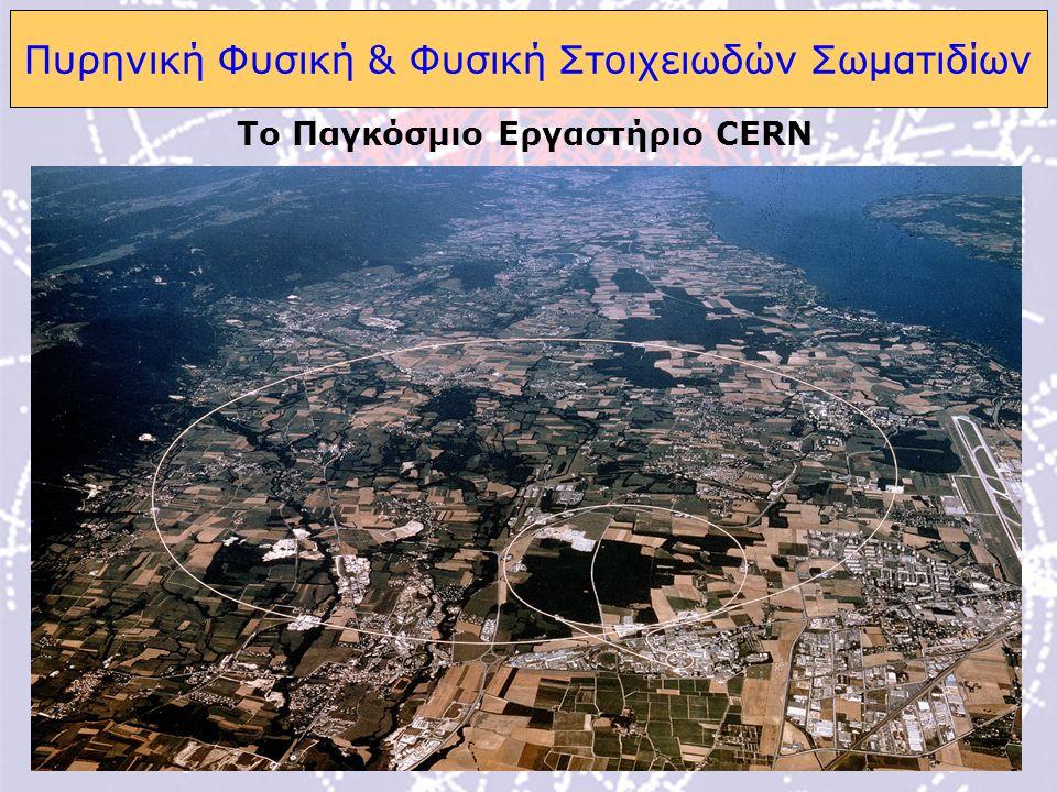10 Πυρηνική Φυσική & Φυσική Στοιχειωδών Σωματιδίων Το Παγκόσμιο Εργαστήριο CERN