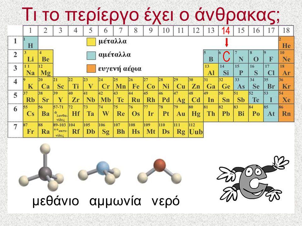 Τι το περίεργο έχει ο άνθρακας; μεθάνιο αμμωνία νερό