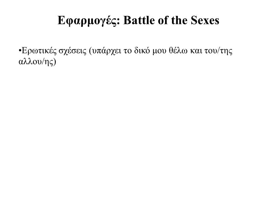 Εφαρμογές: Battle of the Sexes Ερωτικές σχέσεις (υπάρχει το δικό μου θέλω και του/της αλλου/ης)