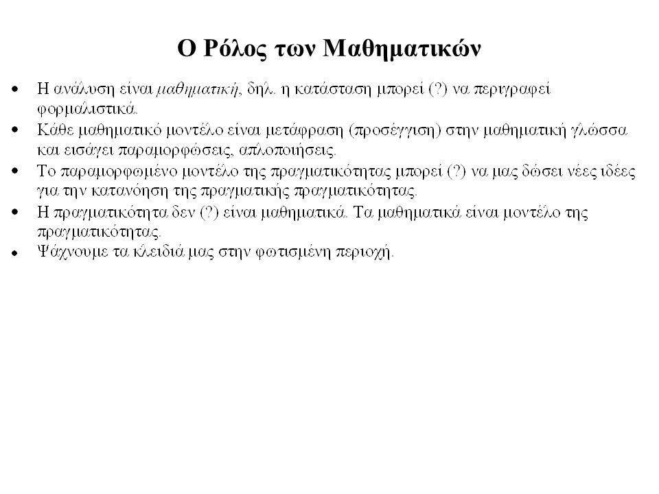 Ο Ρόλος των Μαθηματικών