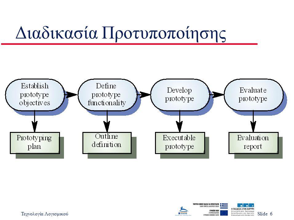 Τεχνολογία ΛογισμικούSlide 6 Διαδικασία Προτυποποίησης