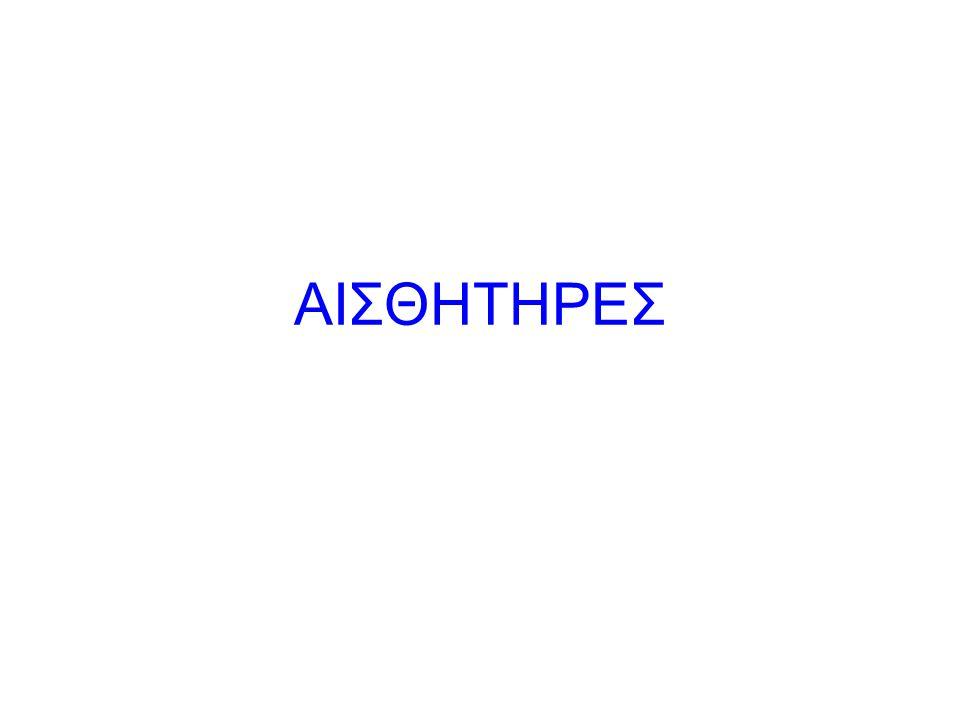 Στόχοι: Ο μαθητής να: (α) δίνει τον ορισμό του αισθητήρα και αναφέρει τη χρησιμότητά του.