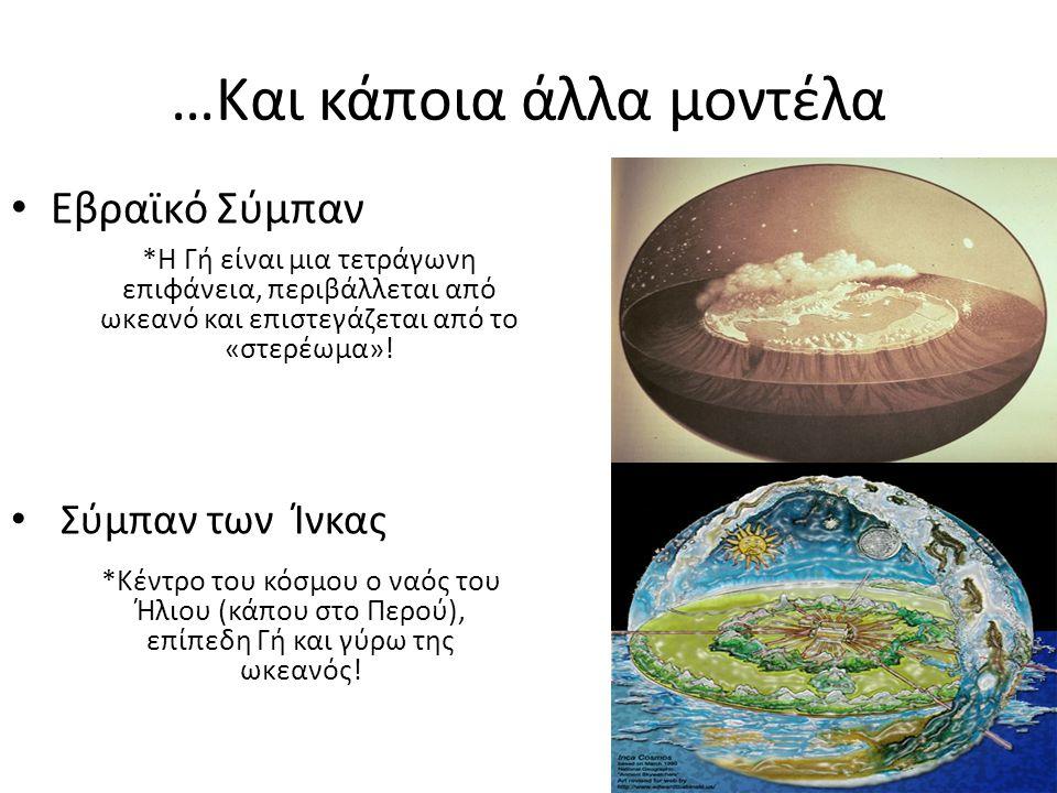 Το Ελληνικό Σύμπαν και η γέννηση της επιστήμης *Περί το 850 π.