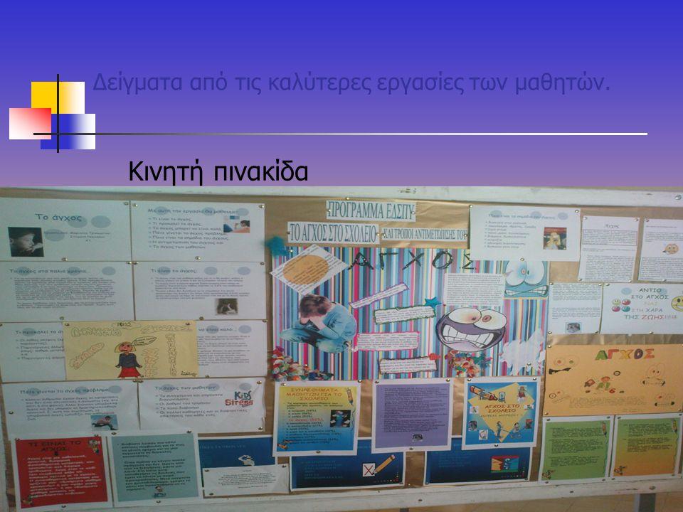 Δείγματα από τις καλύτερες εργασίες των μαθητών. Κινητή πινακίδα