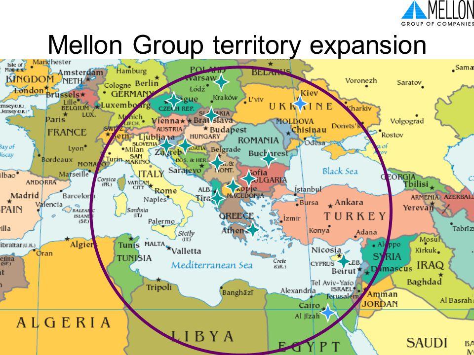 Ελληνική Βιομηχανία: προς την οικονομία της γνώσης, ΤΕΕ, Αθήνα, 3-5 Ιουλίου 2006 3 Mellon Group territory expansion