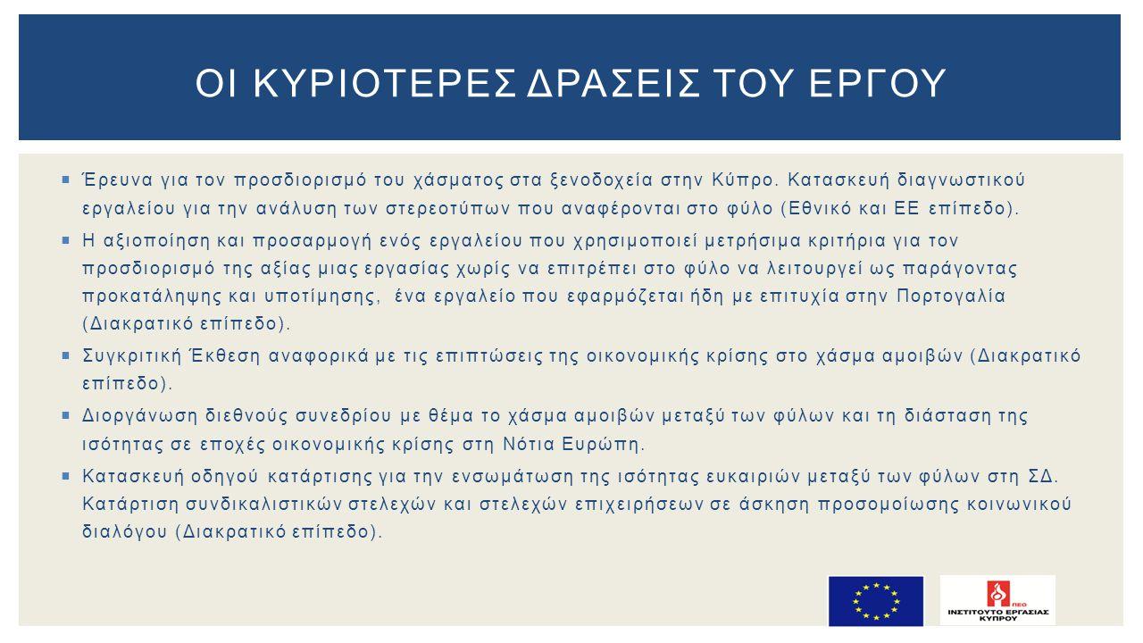  Έρευνα για τον προσδιορισμό του χάσματος στα ξενοδοχεία στην Κύπρο.