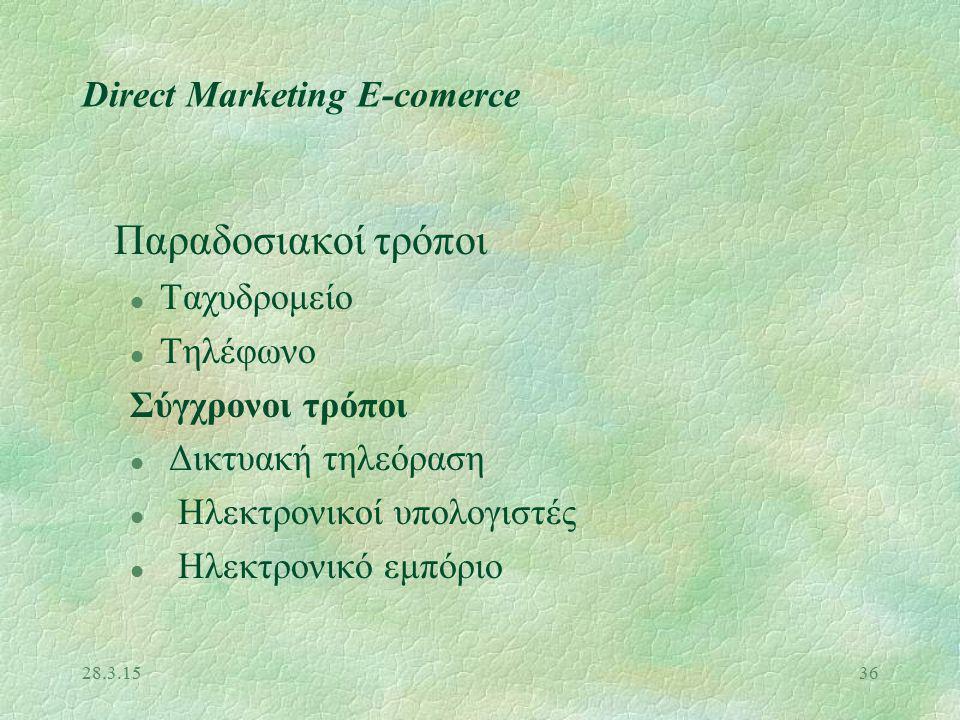 28.3.1535 Μίγμα Προώθησης 3Προσωπική πώληση 3Προώθηση πωλήσεων 3Διαφήμιση 3Δημοσιότητα 3Δημόσιες σχέσεις