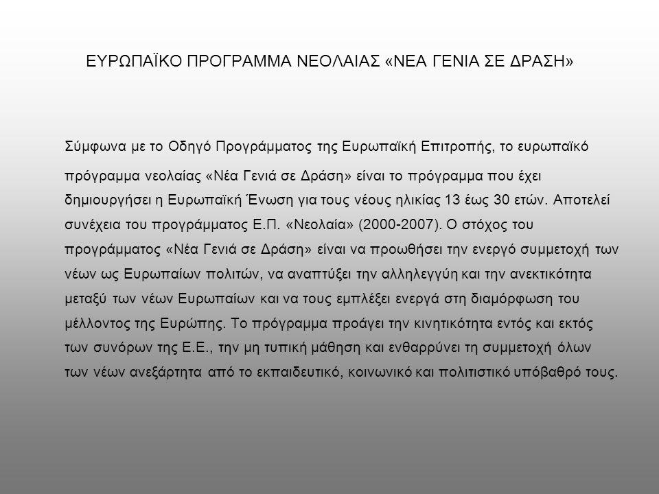 ΣΥΜΠΕΡΑΣΜΑΤΑ Η μελέτη της βιβλιογραφίας δείχνει ότι στη χώρα μας δεν υπάρχουν πολλές μεγάλης κλίμακας κοινωνικές και πολιτικές έρευνες για την ελληνική νεολαία.