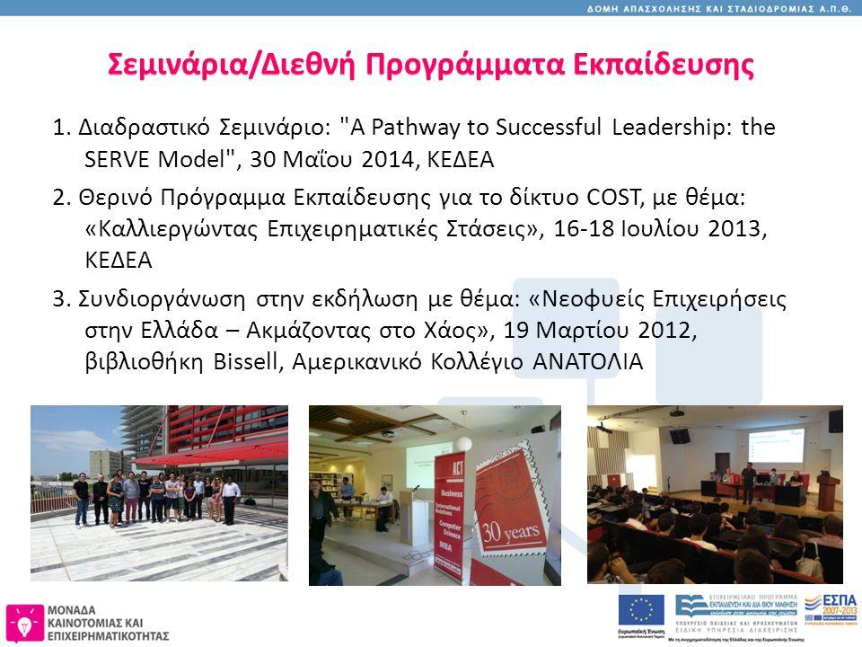 Σεμινάρια/Διεθνή Προγράμματα Εκπαίδευσης 1. Διαδραστικό Σεμινάριο: