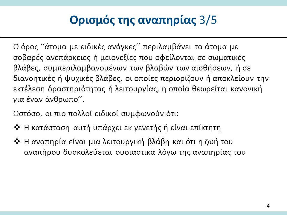 Στάδια προσαρμογής της οικογένειας Τα στάδια προσαρμογής της οικογένειας στην αναπηρία του παιδιού που αναφέρονται συχνότερα είναι:  Σοκ: Απόσυρση ή απόρριψη (Whaley & Wong, 1982)  Άρνηση (Drotar, Baskiewicz, Irvin, Kennell, & Klaus, 1975; Pearse, 1977; Willis, Elliott & Say, 1982)  Θλίψη, οργή, φόβος και απογοήτευση (Willis, Elliott & Say, 1982)  Προσαρμογή (Power & Dell Orto, 1980) και Αναδιοργάνωση (Drotar, Baskiewicz, Irvin, Kennell, & Klaus, 1975; Pearse, 1977; Willis, Elliott & Say, 1982)  Πρέπει να δίνεται ιδιαίτερη σημασία στις ανάγκες του πατέρα διότι η πλειοψηφία των παρεμβάσεων κατά κύριο λόγο επικεντρώνεται στη μητέρα και το παιδί 15