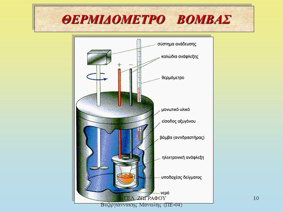 ΘΕΡΜΙΔΟΜΕΤΡΙΑ : ΘΕΡΜΙΔΟΜΕΤΡΙΑ : Είναι η μέτρηση της θερμότητας που εκλύεται ή απορροφάται σε μια χημική αντίδραση που πραγματοποιείται μέσα σε ειδική