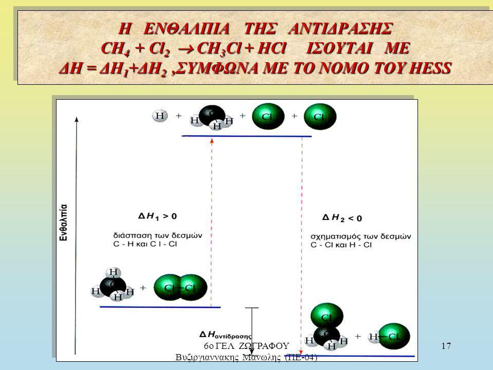 Πρακτικά : προσθέτοντας κατά μέλη δύο ή περισσότερες θερμοχημικές αντιδράσεις (στάδια) μπορούμε, προσθέτοντας ομοίως και τις ενθαλπίες τους, να βρούμε