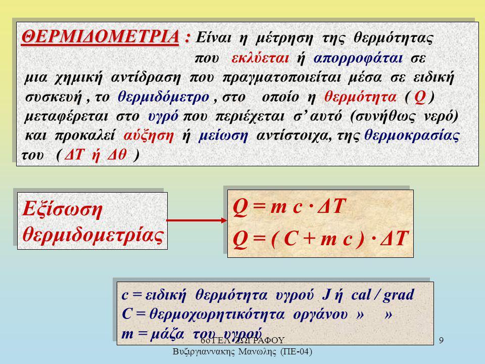 Παράγοντες που επιδρούν στην ΔΗ : α) Η φύση των αντιδρώντων π.χ C γραφίτης + Ο 2( g ) ―> CO 2(g), ΔΗ = - 393,5 kJ C διαμάντι + Ο 2(g) ―> CO 2(g), ΔΗ =