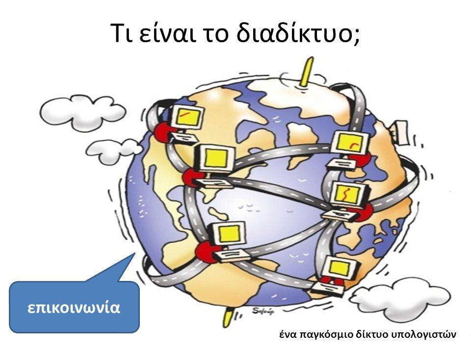 Τι είναι το διαδίκτυο; επικοινωνία ένα παγκόσμιο δίκτυο υπολογιστών