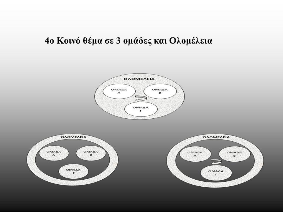 4ο Κοινό θέμα σε 3 ομάδες και Ολομέλεια