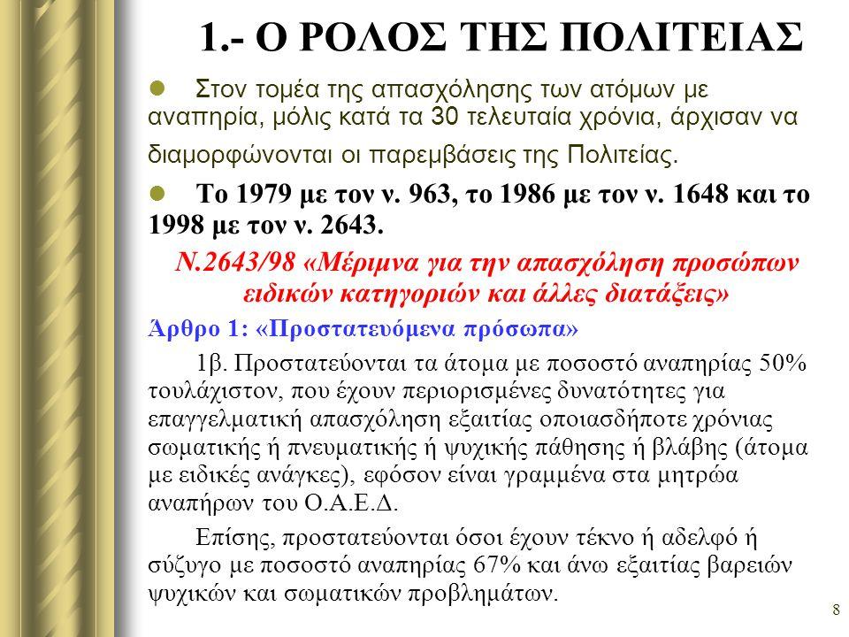 9 Άρθρο 2: « Προστασία σε φορείς του ιδιωτικού και του ευρύτερου δημοσίου τομέα » 1.