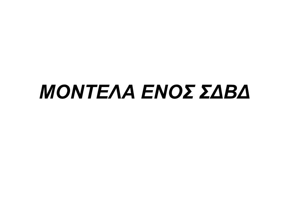 ΜΟΝΤΕΛΑ ΕΝΟΣ ΣΔΒΔ