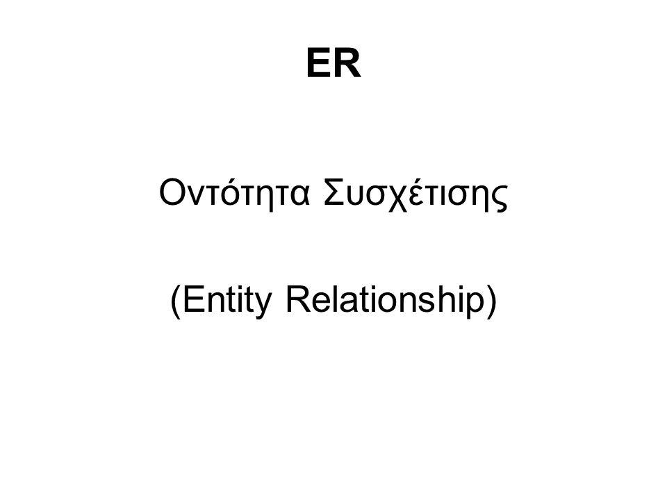 ER Οντότητα Συσχέτισης (Entity Relationship)