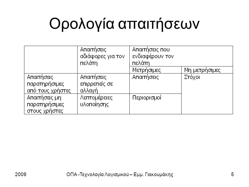 2009ΟΠΑ -Τεχνολογία Λογισμικού – Εμμ.