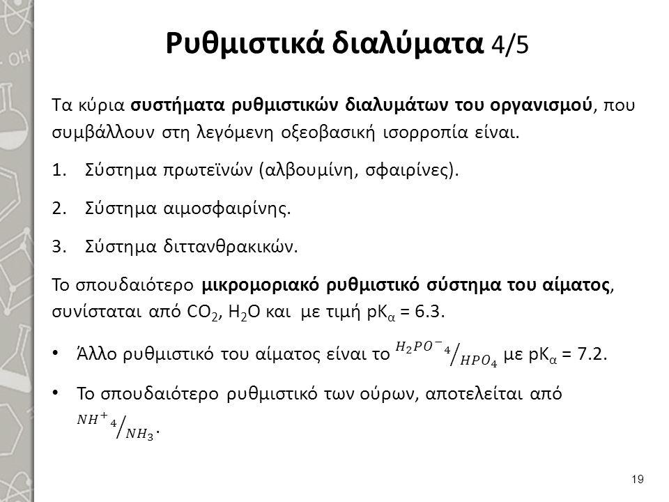 Ρυθμιστικά διαλύματα 4/5 19