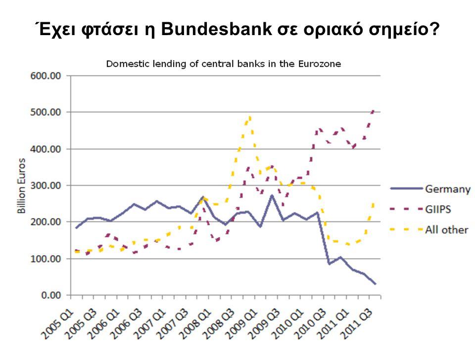11 Έχει φτάσει η Bundesbank σε οριακό σημείο?