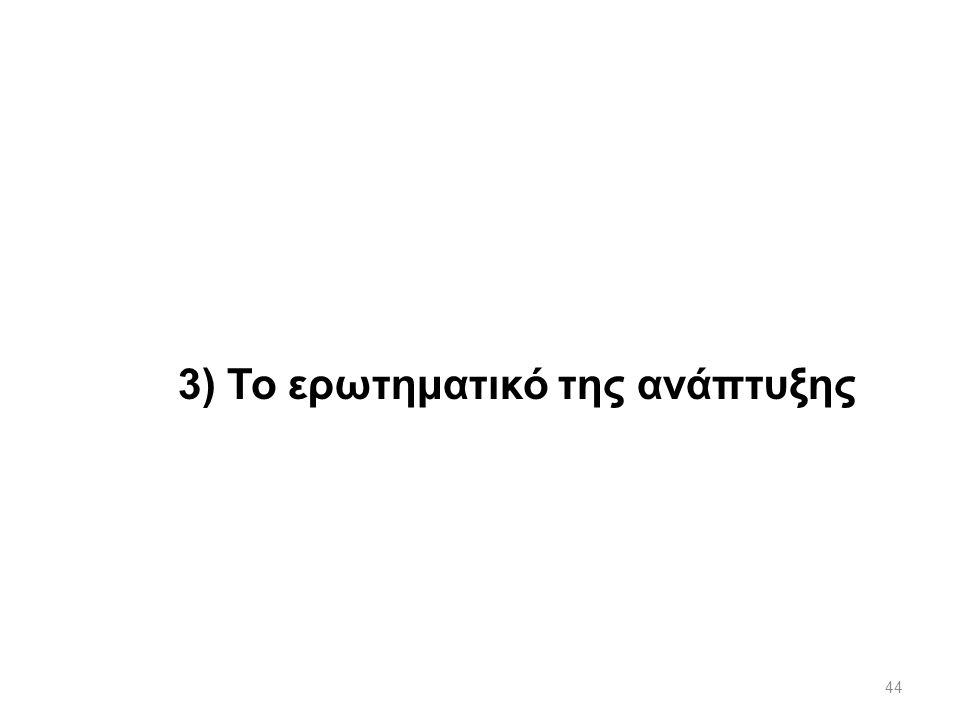 44 3) Το ερωτηματικό της ανάπτυξης
