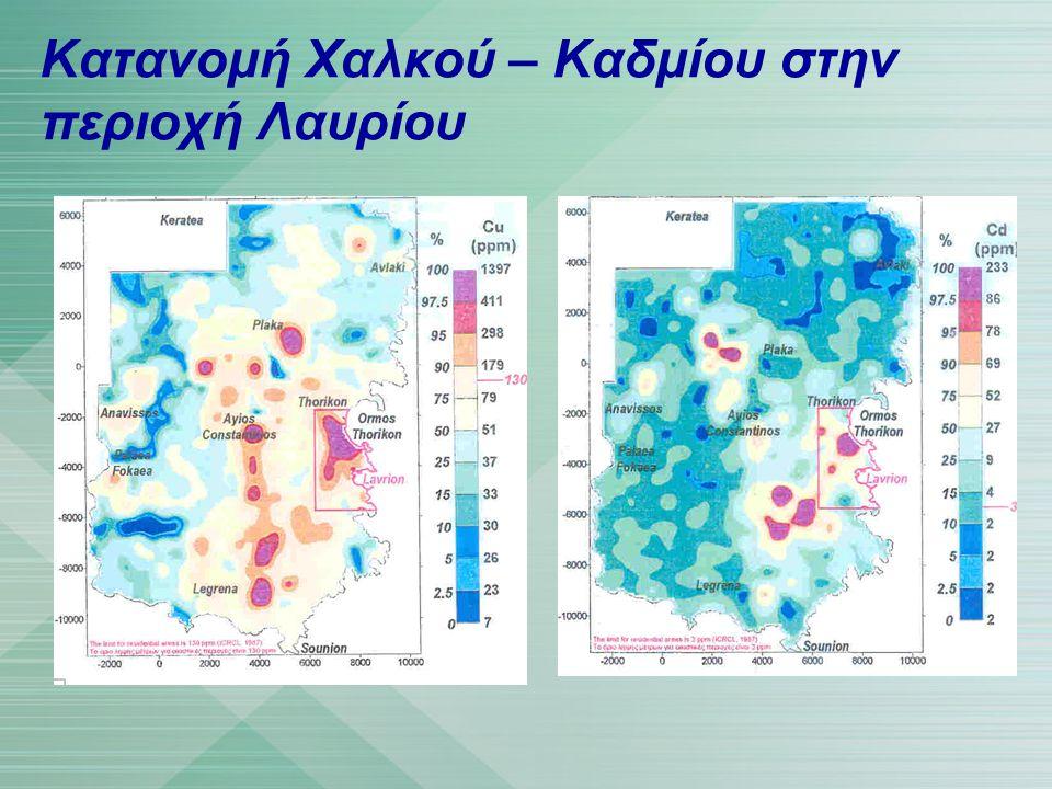Κατανομή Χαλκού – Καδμίου στην περιοχή Λαυρίου