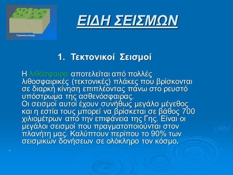 2.Ηφαιστειακοί Σεισμοί 2.