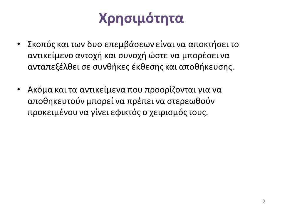 Χρήση Συγκολλητικών υπό Tímár-Balázsy, A. & Eastop, D. (1998) 13