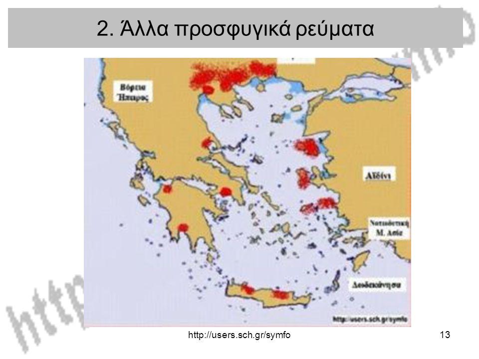 http://users.sch.gr/symfo13 2. Άλλα προσφυγικά ρεύματα