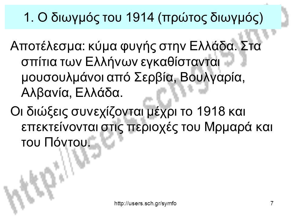 http://users.sch.gr/symfo18 4.Η παλιννόστηση Τέλος 1918: επιστροφή προσφύγων στη Μ.