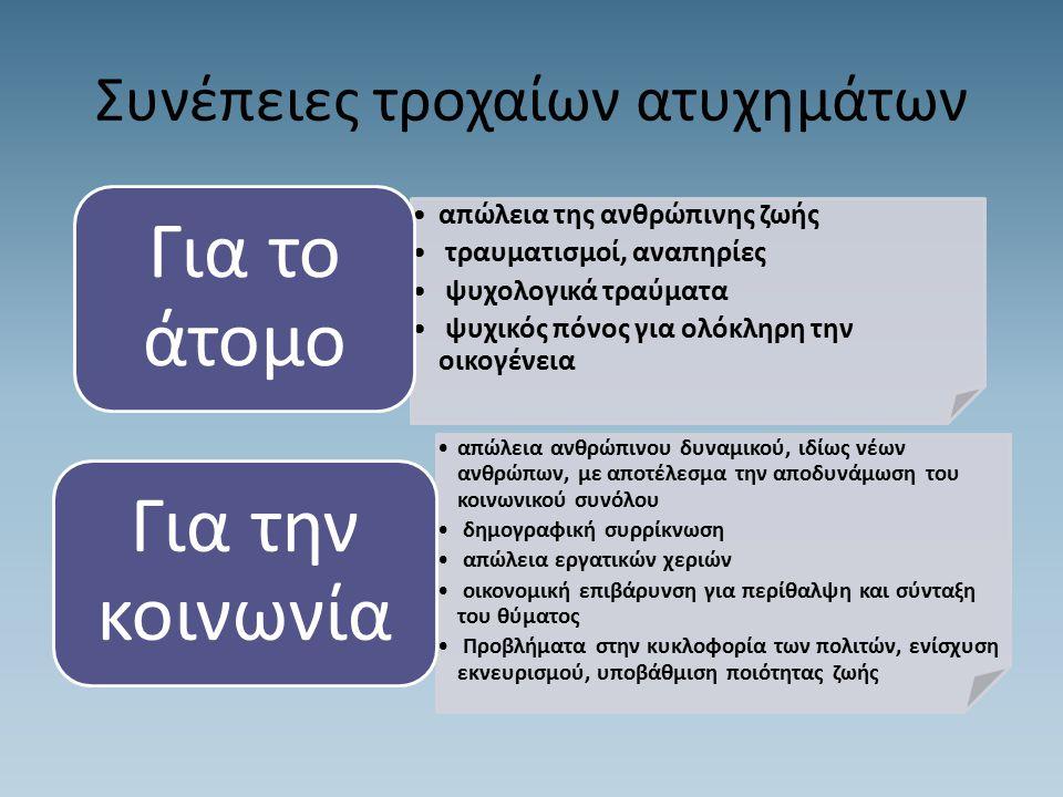 Συμβουλές Οδικής Ασφάλειας Η Ελληνική Αστυνομία ιδιαίτερα ευαισθητοποιημένη στα θέματα ασφαλούς οδήγησης και οδικής ασφάλειας με σκοπό να συμβάλλει στη μείωση των τροχαίων ατυχημάτων και δυστυχημάτων υπενθυμίζει σε όλους τους οδηγούς και τους χρήστες του οδικού δικτύου ότι η οδική ασφάλεια είναι υπόθεση όλων μας.