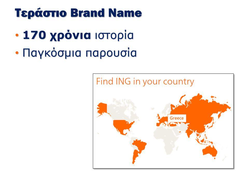 Τεράστιο Brand Name 170 χρόνια ιστορία 170 χρόνια ιστορία Παγκόσμια παρουσία Παγκόσμια παρουσία